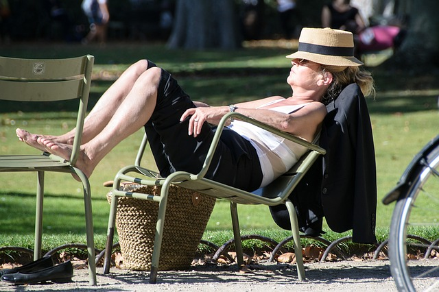 relaxed woman photo